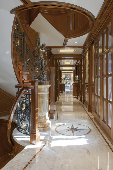 007 Main Deck Entrance Lobby View Aft to Owners Suite